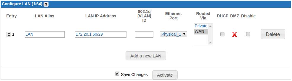Configure a LAN – Ecessa Support