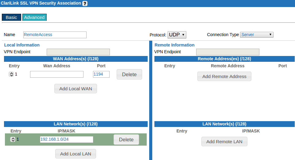 Ssl Vpn Ecessa Configuration Ecessa Support